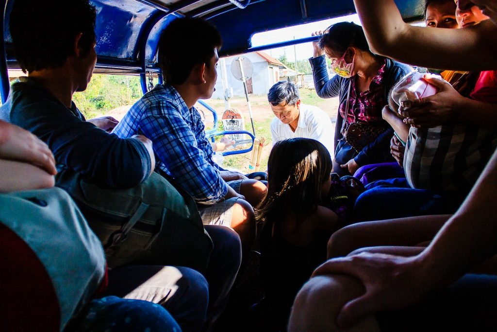 Laos Tuk Tuk Pickup Van